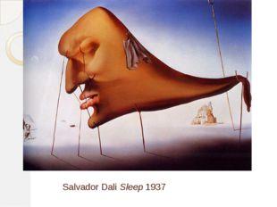 Salvador Dali Sleep 1937