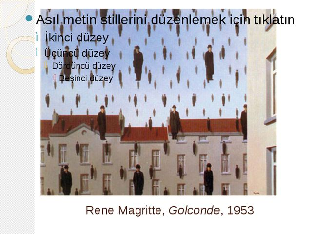 Rene Magritte, Golconde, 1953