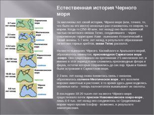 Естественная история Черного моря  За миллионы лет своей истории, Чёрное мор