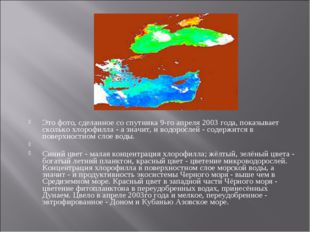 Это фото, сделанное со спутника 9-го апреля 2003 года, показывает сколько хл