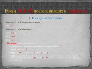 1. Имя существительное Пишется Е – в безударном положении Доч-еньк-а Пишется