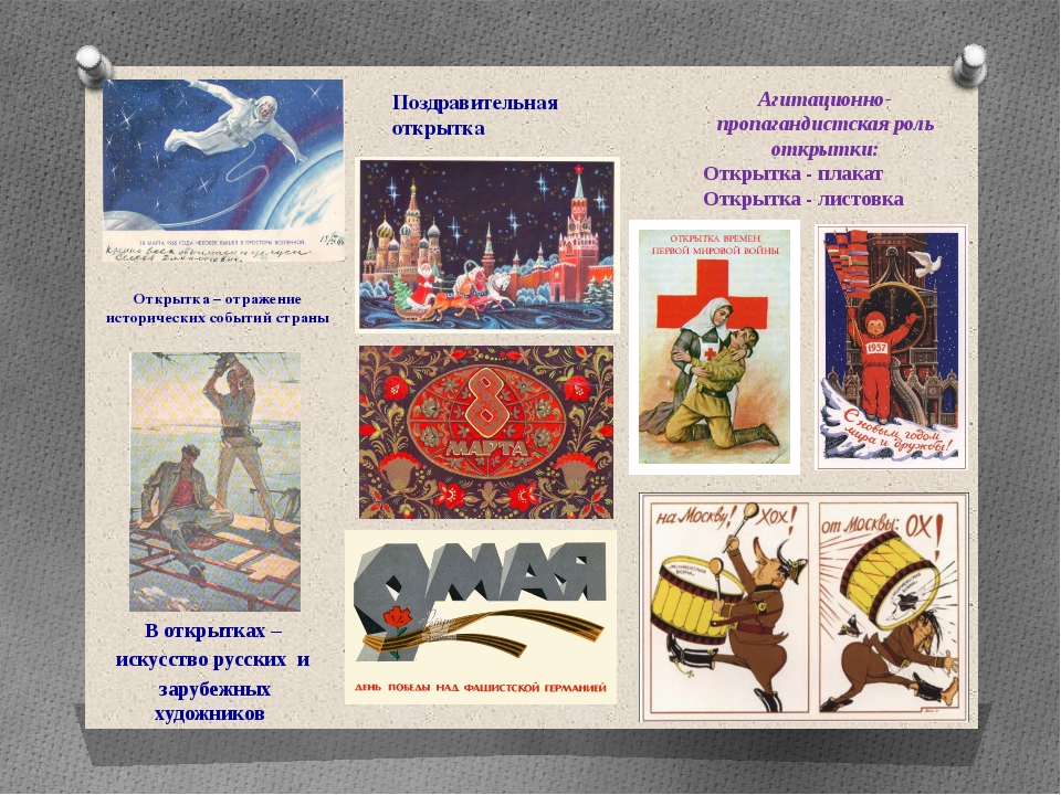 Открытка – отражение исторических событий страны В открытках – искусство русс...