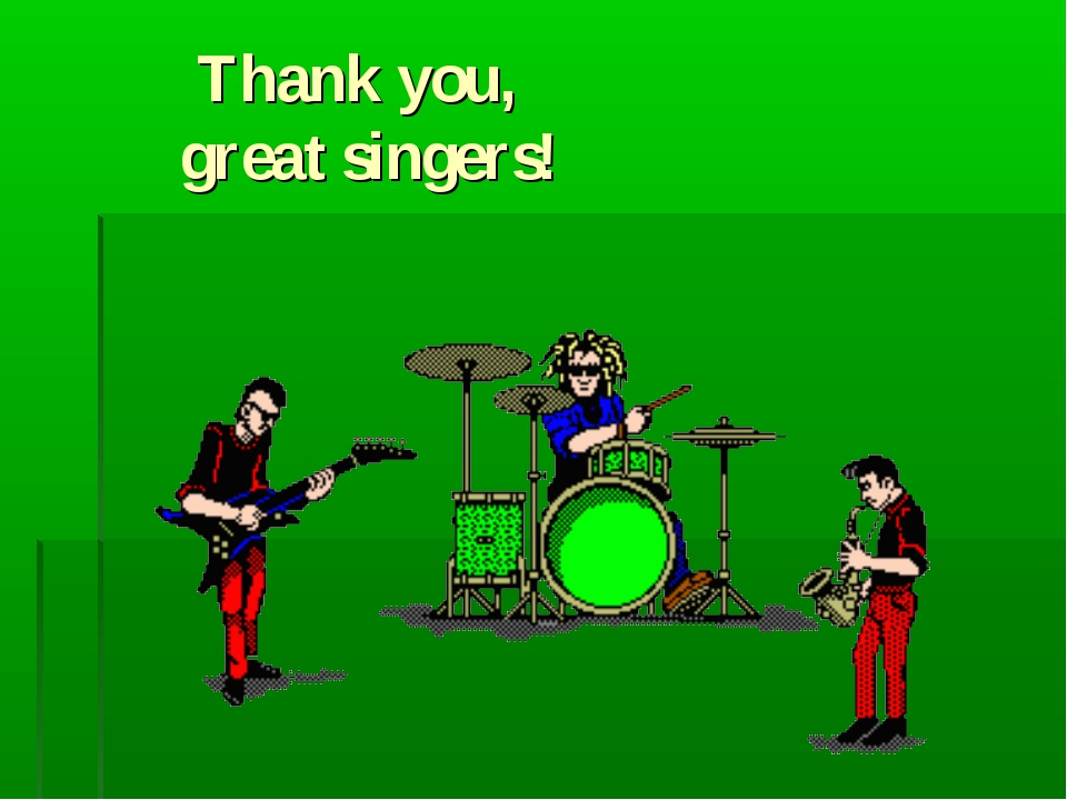 Thank you, great singers!