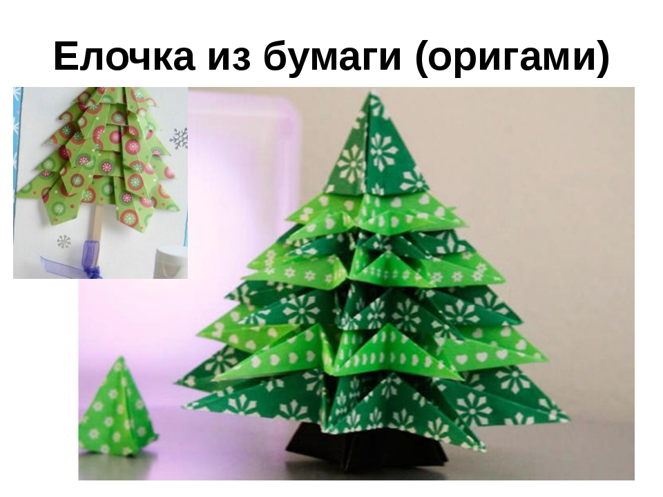 Елочка из бумаги (оригами)