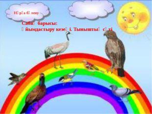 Нұрға бөлену Сабақ барысы: Ұйымдастыру кезеңi. Тыныштық сәті