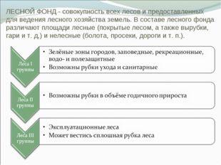 ЛЕСНОЙ ФОНД - совокупность всех лесов и предоставленных для ведения лесного х