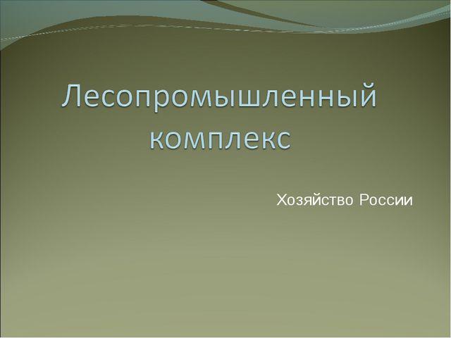 Хозяйство России