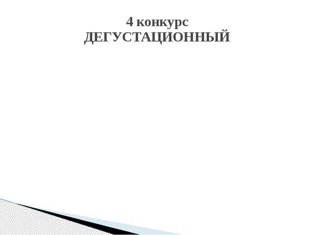 4 конкурс ДЕГУСТАЦИОННЫЙ