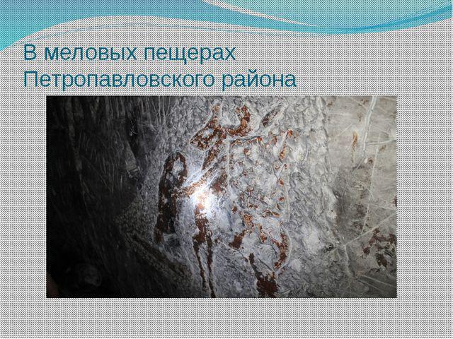 В меловых пещерах Петропавловского района