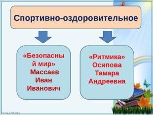 Спортивно-оздоровительное «Безопасный мир» Массаев Иван Иванович «Ритмика» О