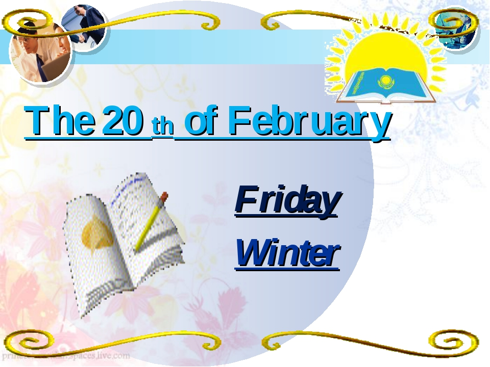 The 20 th of February Friday Winter