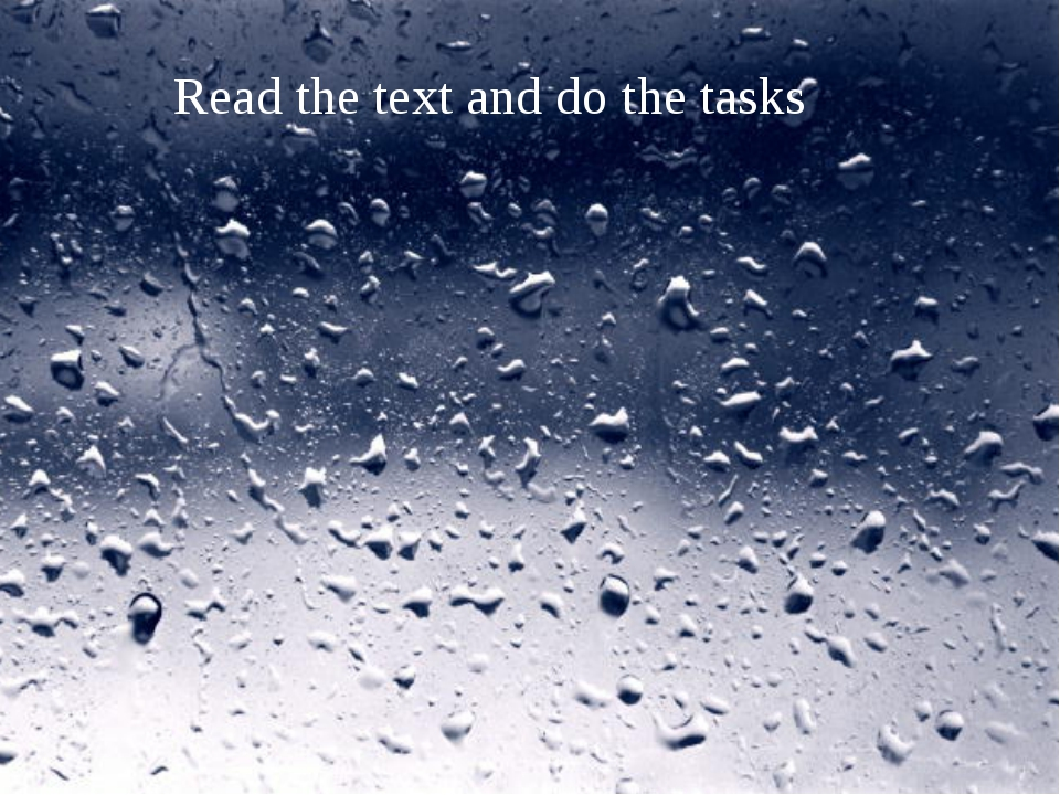 Read the text and do the tasks