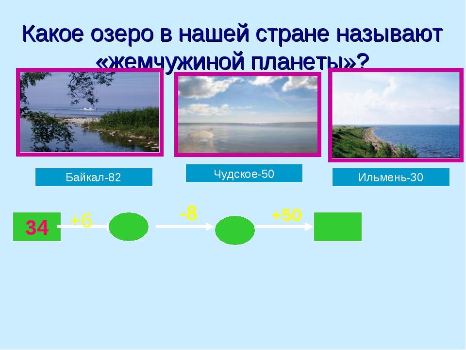 Какое озеро в нашей стране называют «жемчужиной планеты»? Байкал-82 Чудское-5...