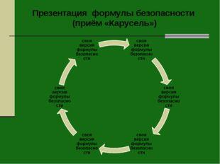 Презентация формулы безопасности (приём «Карусель»)