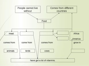People cannot live without Comes from different countries Food meat Africa Am