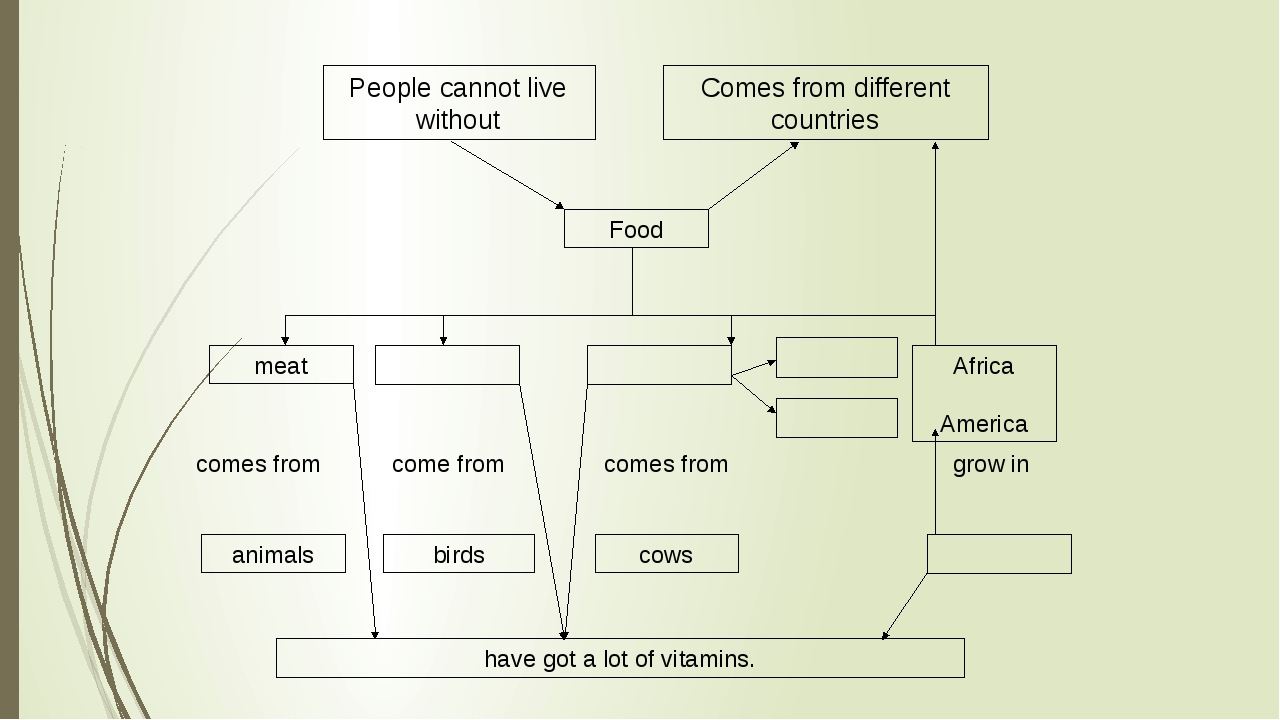 People cannot live without Comes from different countries Food meat Africa Am...