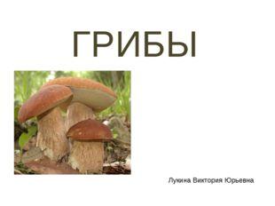 ГРИБЫ Лукина Виктория Юрьевна