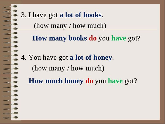 3. I have got a lot of books. (how many / how much) 4. You have got a lot of...