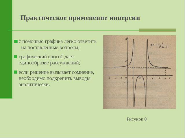 Практическое применение инверсии Рисунок 8 с помощью графика легко ответить н...