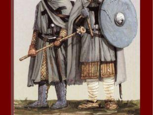 В пехоте Ордена служили как орденские братья, так и ополченцы из числа немецк