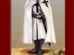 Изображен 4-й магистр ордена Герман фон Зальц. На груди нашит крест с серебря