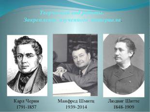 Творческий вид работы. Закрепление изученного материала. Людвиг Шитте 1848-19
