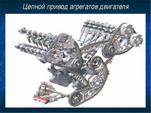 Цепной привод агрегатов двигателя