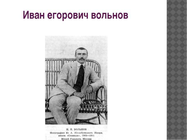 Иван егорович вольнов