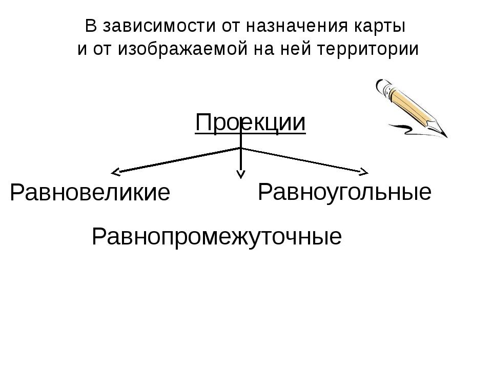 Проекции Равновеликие Равноугольные Равнопромежуточные В зависимости от назна...