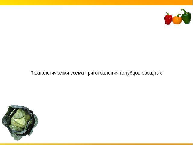 Технологическая схема приготовления голубцов овощных