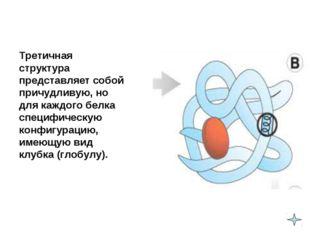 Третичная структура представляет собой причудливую, но для каждого белка сп