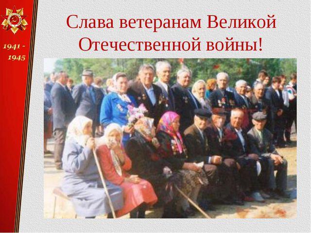 Слава ветеранам Великой Отечественной войны!