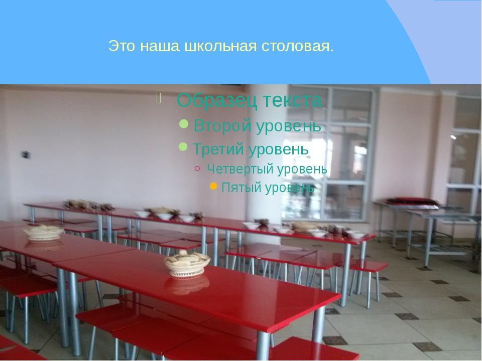 Это наша школьная столовая.