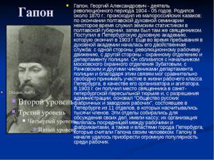 Гапон Гапон, Георгий Александрович - деятель революционного периода 1904 - 05