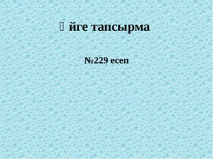 Үйге тапсырма №229 есеп