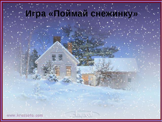 Игра «Поймай снежинку»
