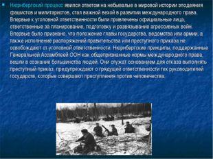 Нюрнбергский процесс явился ответом на небывалые в мировой истории злодеяния