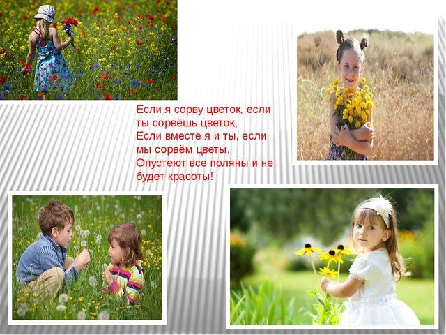 Если я сорву цветок, если ты сорвёшь цветок, Если вместе я и ты, если мы сорв...