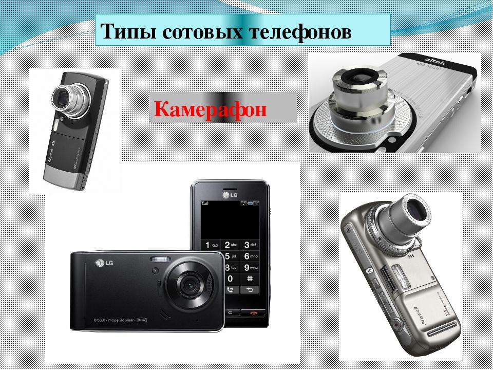 Типы сотовых телефонов Камерафон