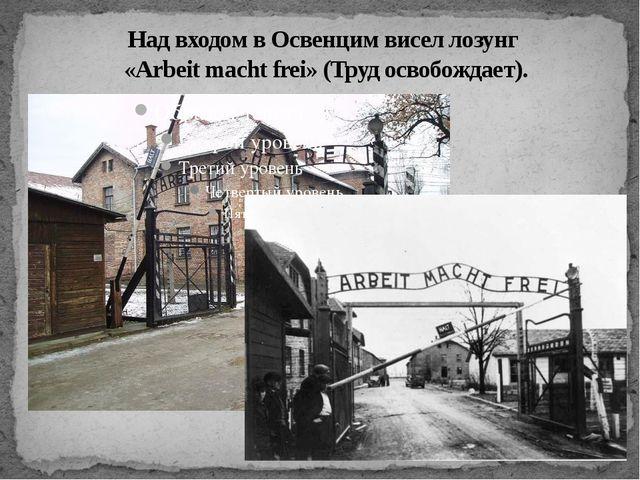 Над входом в Освенцим висел лозунг «Arbeit macht frei» (Труд освобождает).