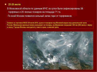25-26 июля В Московской области по данным МЧС за сутки были зафиксированы 38