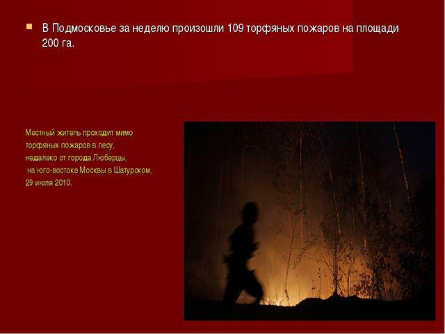 В Подмосковье за неделю произошли 109 торфяных пожаров на площади 200 га. Мес...
