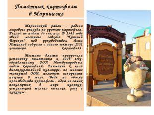 Памятник картофелю в Мариинске  Мариинский район - родина мирового рекорда
