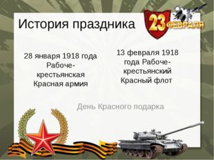 История праздника 28 января 1918 года Рабоче-крестьянская Красная армия День