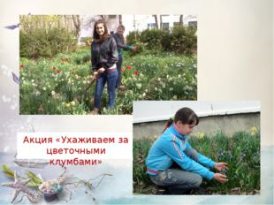 Акция «Ухаживаем за цветочными клумбами»