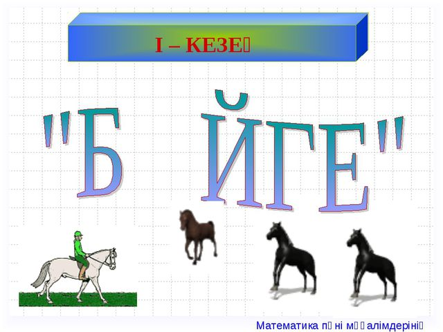 І – КЕЗЕҢ Математика пәні мұғалімдерінің сайты