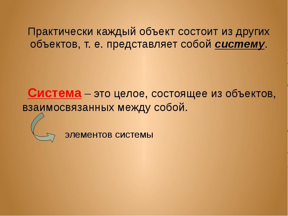Практически каждый объект состоит из других объектов, т. е. представляет собо...