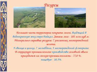 Большая часть территории покрыта лесом, входящий в водоохранную зону озера Ба