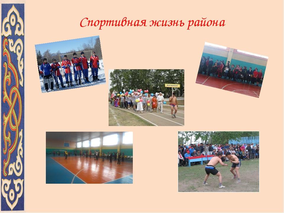 Спортивная жизнь района