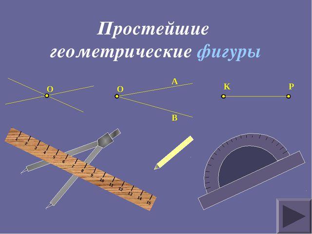 Простейшие геометрические фигуры O O A B K P